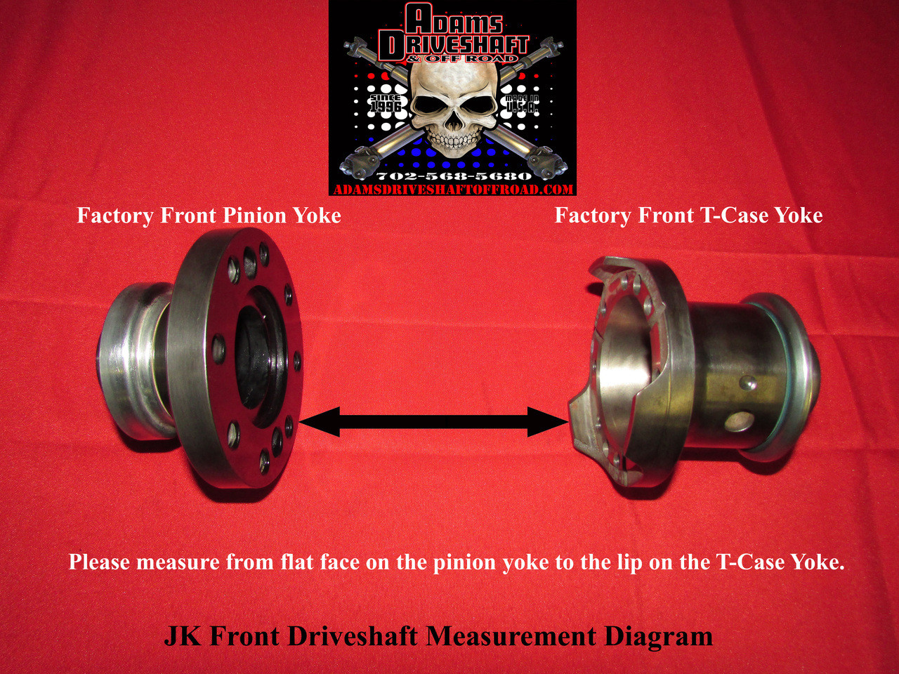 Adams Driveshaft 1350 Front Rock Crawler CV Driveshaft (Wrangler JK 2007+)