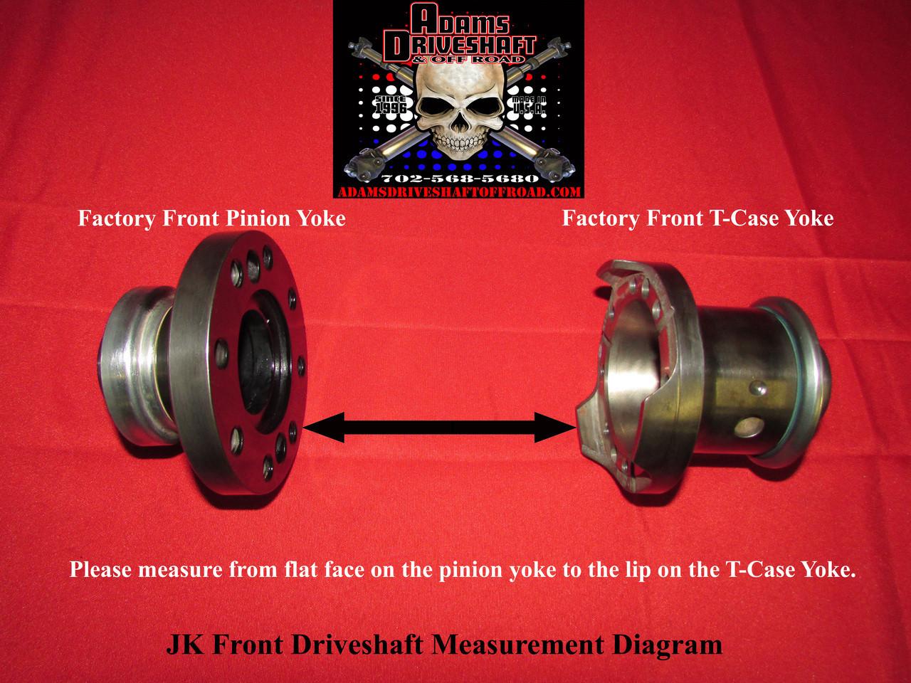 Driveshaft Measurement Required