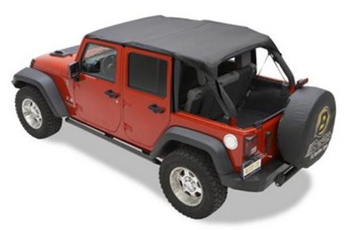 Bestop 52584-35 Header Safari Bikini Top for 4 Jeep Door Wrangler 2010-2014