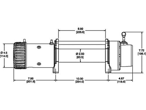 Diagram of Warn 9.5 XP Extreme Performance Cable Winch with 9500 LB Pulling Capacity