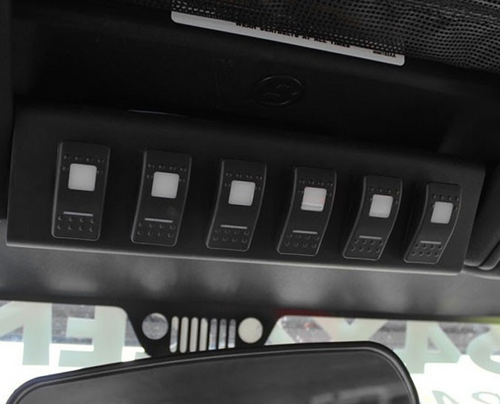 sPOD SL-0708-JK SourceLT Switch Panel for Jeep Wrangler JK 2007-2008