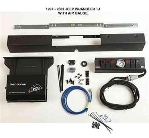 sPOD 6 Switch & Air Gauge Kit (Wrangler TJ 1997-2006) Radio Wiring Harness Jeep Wrangler on