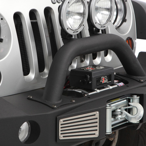 Recessed winch on Atlas front bumper