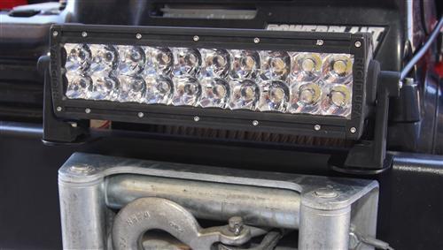 Installed Winch Fairlead Light Mount for Wrangler