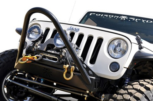Poison Spyder Aluminum Hawse Winch Fairlead Mounted on Wrangler