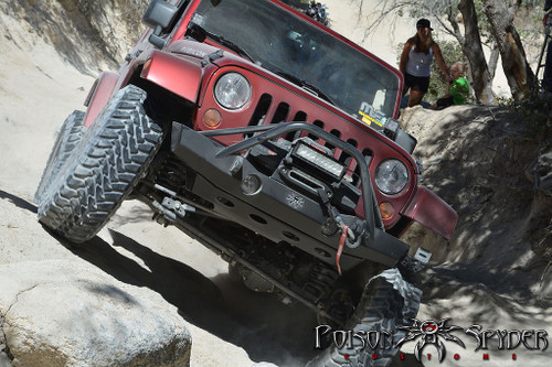 Poison Spyder Brawler MID Front Skid Mounted on Jeep Wrangler JK
