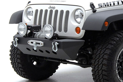 Smittybilt 76743 Classic Front Bumper with Winch Mount for Jeep Wrangler JK 2007-2016