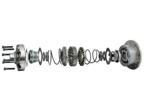 Exploded View of Detroit Locker Dana 30 27 Spline Count for 3.53 and Lower Gears