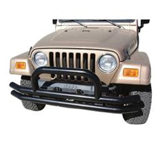 Rampage Products Front Bumper with Hoop for Jeep YJ, TJ/LJ
