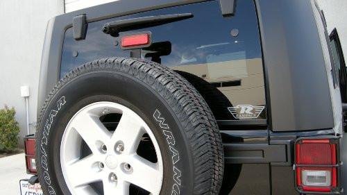Rampage Products Universal Third Brake Light Kit Mounted on Jeep Wrangler