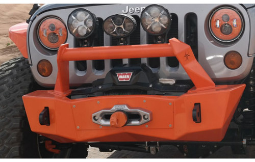 Nemesis Industries Notorious Front Bumper (painted) with Light Hoop (sold separately) Mounted on JK