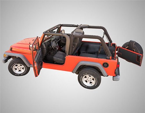 BedRug BedTred Rear Cargo Liner Kit for Wrangler LJ