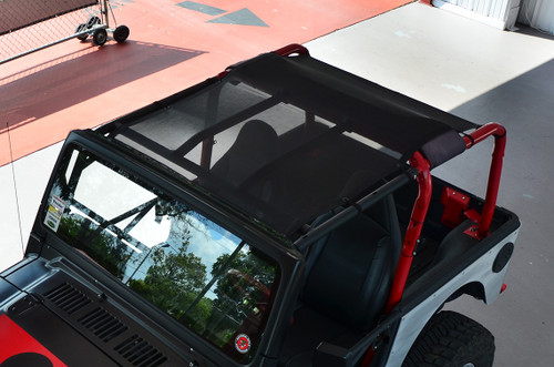 SpiderWebShade SW1 TJ Mesh Top for Jeep Wrangler TJ and LJ 1997-2006