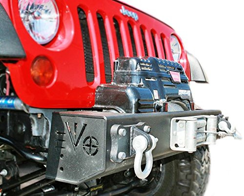EVO MFG 1/4 Pounder Front Bumper Mounted on Jeep JK