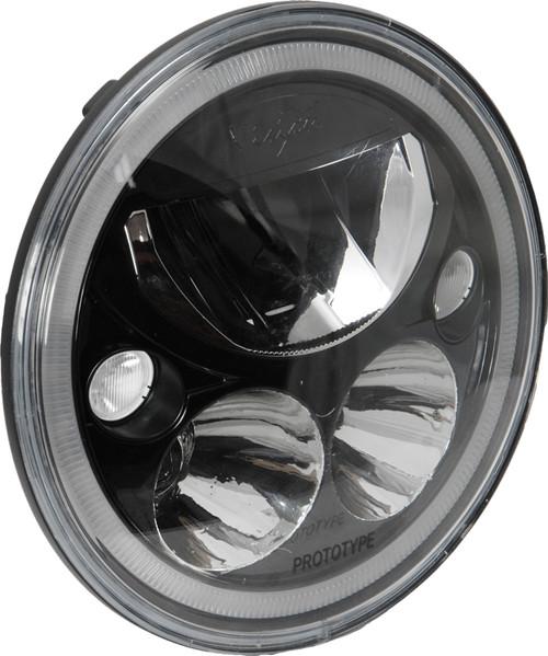 "Vision X XIL-7RDBKITJK Pair of Vortex 7"" Round LED Headlights in Black for Jeep Wrangler JK 2007-2016"