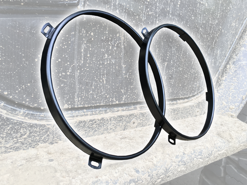 Jeep JK Black Headlamp Retainer Rings
