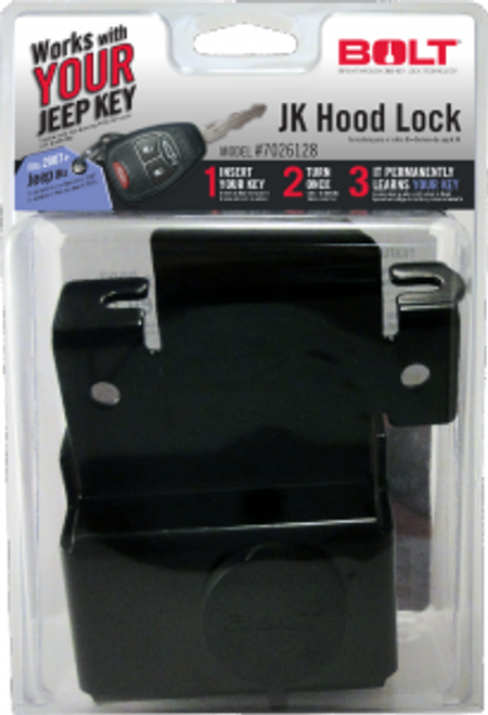 BoltLock Hood Lock for Jeep JK Package