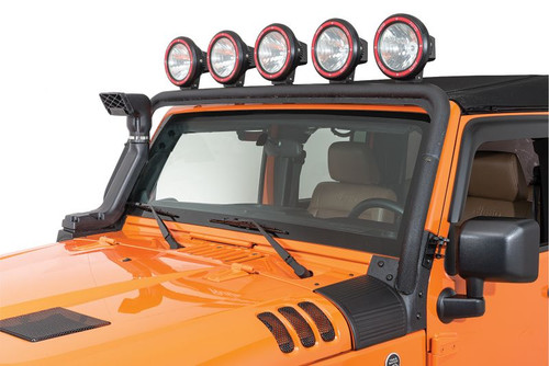 Rugged Ridge Windshield Light Mount on Jeep Wrangler JK