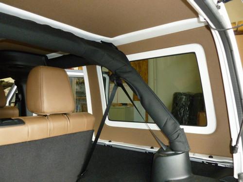 Hothead Headliners Jeep Wrangler 2011-2016 JK 2 Door Rear Side Window Panels Black