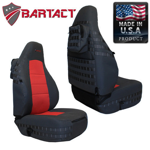 Bartact MSSCTJ0306F Front Pair of Mil-Spec Seat Covers for Jeep Wrangler TJ 2003-2006