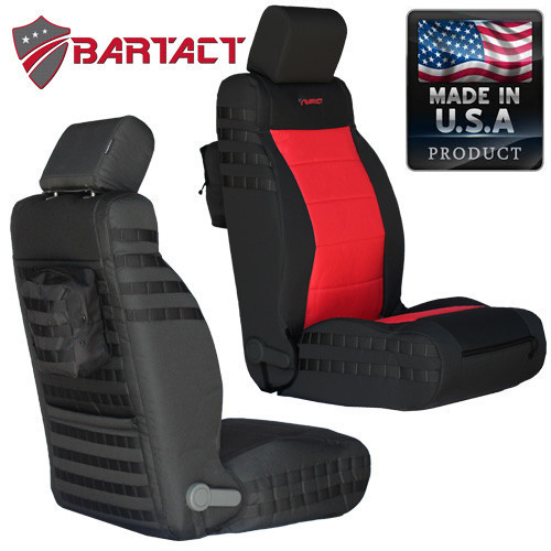 Bartact MSSCJK1112ACF Mil-Spec Air Bag Compliant Front Seat Cover Pair for Jeep Wrangler JK 2011-2012