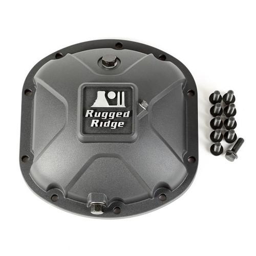 Rugged Ridge 16595.13 Boulder Aluminum Differential Cover in Black for Dana 30 Axles