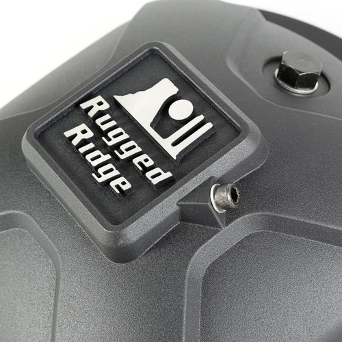 Rugged Ridge Boulder Aluminum Diff Cover in Matte Black for D30 Axle