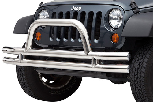 Smittybilt Front Tubular Bumper in Stainless Steel for Jeep JK