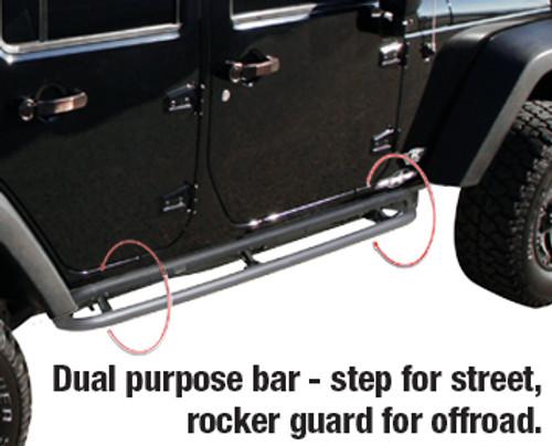 Rampage Products Retractable RockGuard Side Steps for JK 4 Door Close Up