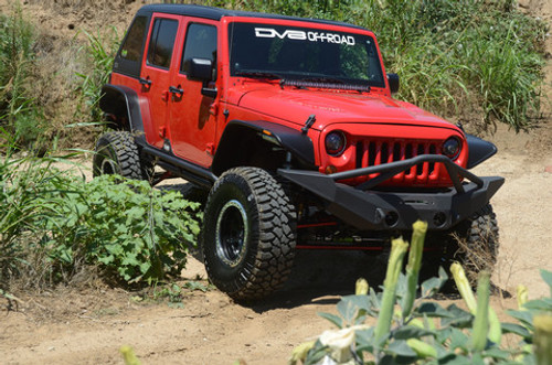 DV8 Offroad FS-10 Front Full Width Bumper with Skid Plate for Jeep JK