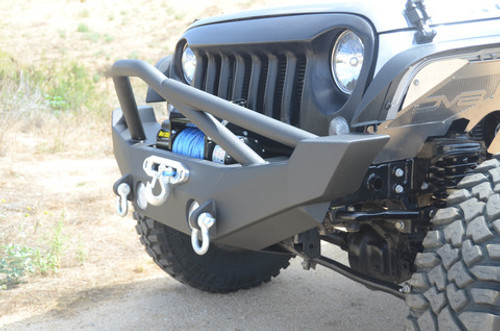 DV8 Offroad Hammer Forged Front Bumper for Jeep JK