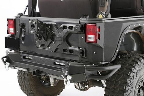 Smittybilt HD SRC Pivot Rear Tire Carrier for Wrangler JK