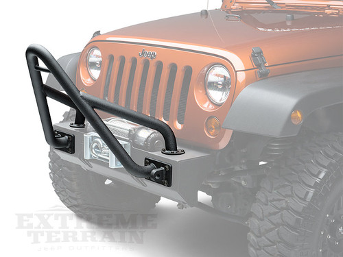 Rugged Ridge Modular XHD Front Bumper Stinger in Textured Black for Jeep Wrangler