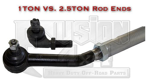 Fusion 4x4 2.5 Vs 1 Ton Tie Rod Ends