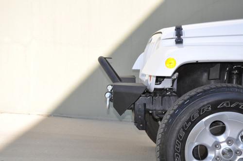 DV8 Offroad FBSHTB-07 FS-7 Front Mid Width Bumper with 4 LED Lights for Jeep Wrangler JK, JL & Gladiator JT