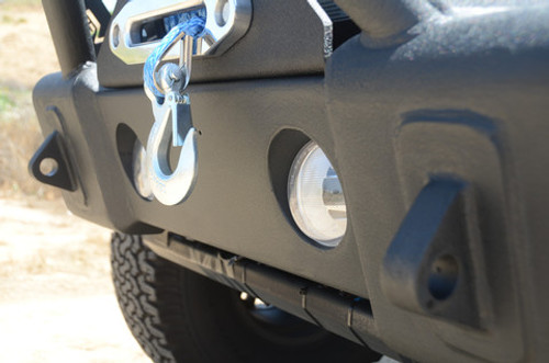 DV8 Offroad FS-13 Hammer Forged Stubby Front Bumper with Light Provisions for Jeep JK