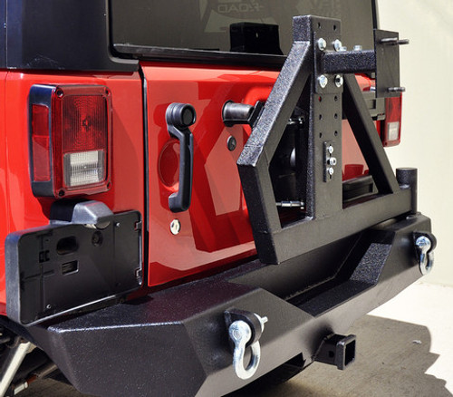DV8 Offroad RS-2 Single Action Rear Bumper and Tire Carrier for Jeep JK