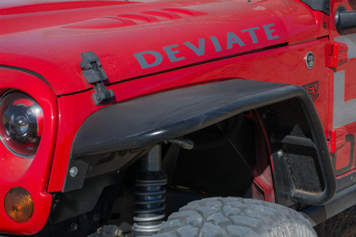 DV8 Offroad Front Flat Tube Fenders for Jeep JK