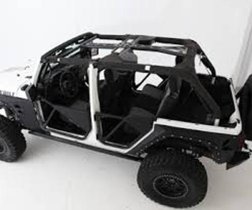 Smittybilt 76902 SRC Roll Cage Kit in 6 Pieces for Jeep Wrangler JK 4 Door 2007-2010