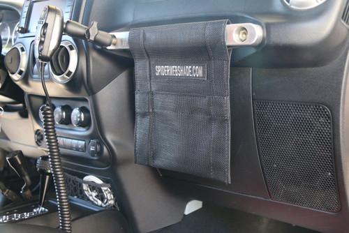 SpiderWebShade GrabBag Mounted in Jeep Wrangler JK