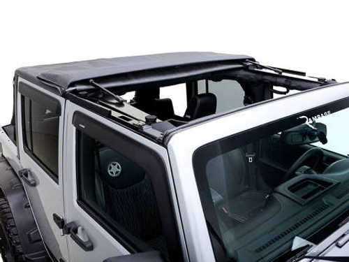 Rampage Products TrailView Frameless Soft Top for Jeep JK 4 Door
