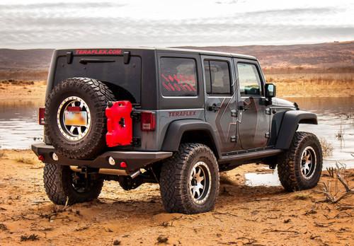 TeraFlex Rear Outback Bumper Mounted on Jeep JK