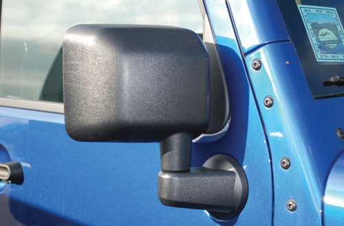 Bestop HighRock 4x4 Replacement Mirrors Mounted on Jeep Wrangler JK