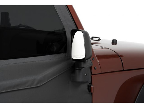 Bestop HighRock 4x4 Factory Style Replacement Mirrors Mounted on Jeep Wrangler JK