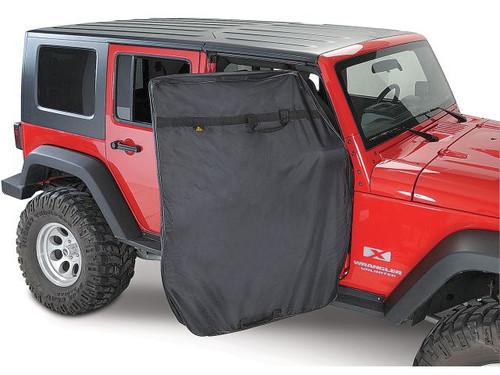Bestop Door Storage Jacket in Use on Jeep Wrangler JK 4 Door