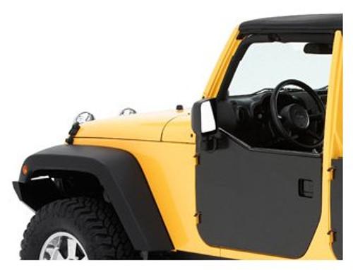 Bestop HighRock 4x4 Element Front Door Enclosure Mounted on Jeep JK