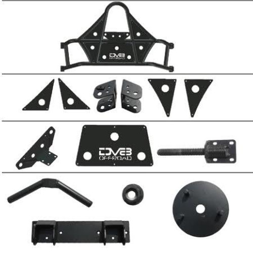 DV8 TCSTTB-01 Body Mounted Tire Carrier for Jeep Wrangler JK 2007-2018
