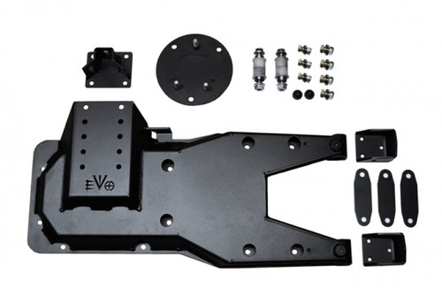 EVO Manufacturing Pro Series Hinged Gate Carrier- Black (Wrangler JK 2007-2018)