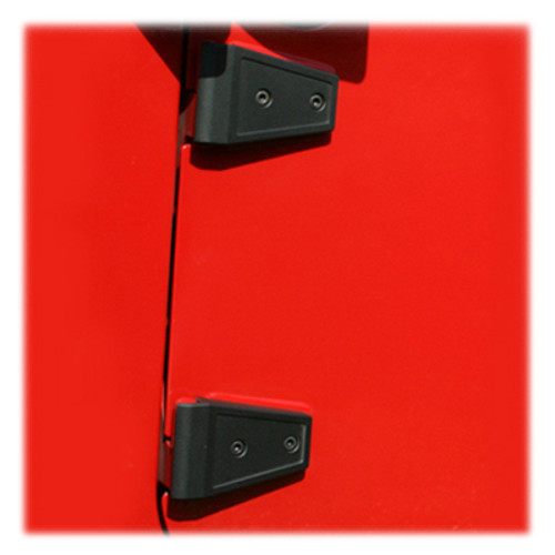 Rugged Ridge Door Hinge Overlay Set- Textured Black- Pair (Wrangler JK 2007-2018)