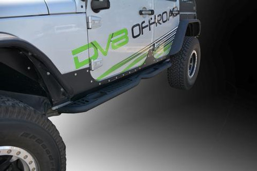 DV8 Offroad SR-6 Rock Slider Steps- 4 Door (Wrangler JK 2007-2018)